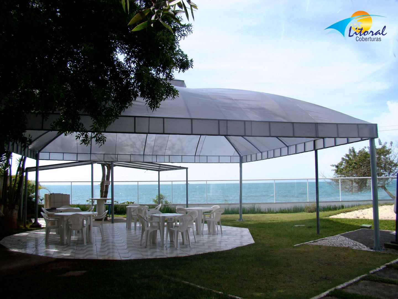 Cobertura em lona sint tica litoral toldos for Toldos para enrollar